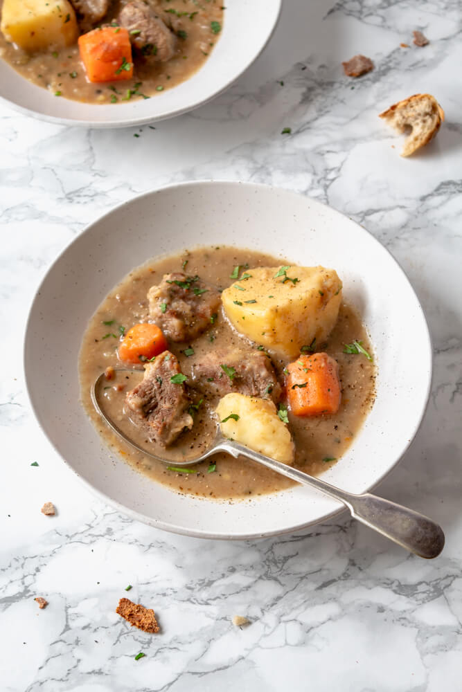 Light Indian Lamb Stew in a bowl