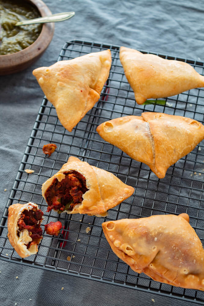 Beetroot and Potato Samosa