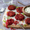 Beetroot and Walnut Fritters