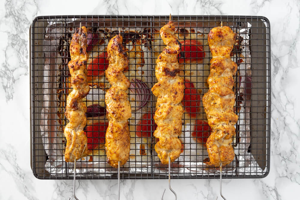 Chargrilled Chicken Kebabs - The Grilled Skewers